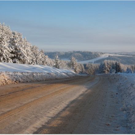 the winters road, Canon EOS 5D