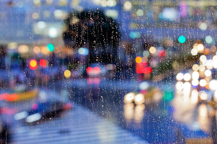Photograph rainy night by Loic Labranche on 500px