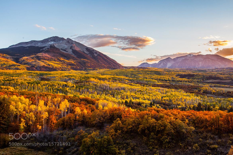 Photograph Autumn Sunset by Putt Sakdhnagool on 500px