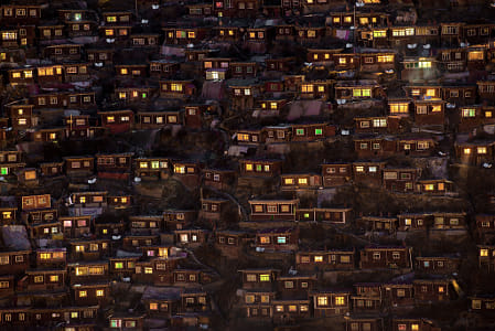 Larung Gar Night (Tibet) by Klassy Goldberg on 500px