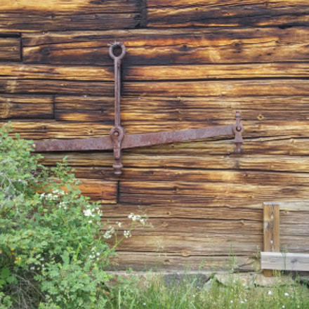 Wall of an old wooden house