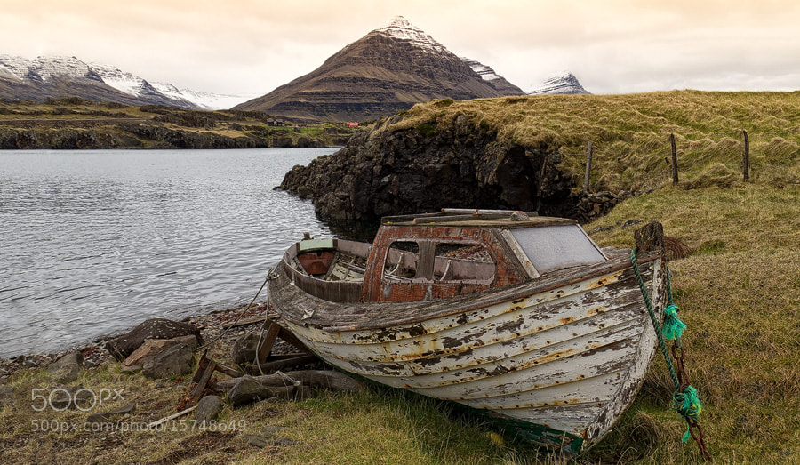 Photograph just a boat | Iceland by Matthias Huber on 500px