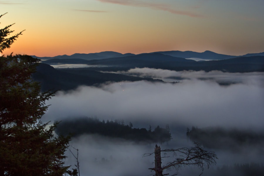 A cold morning from the top of Castle Rock in Blue Mountain Lake, NY.