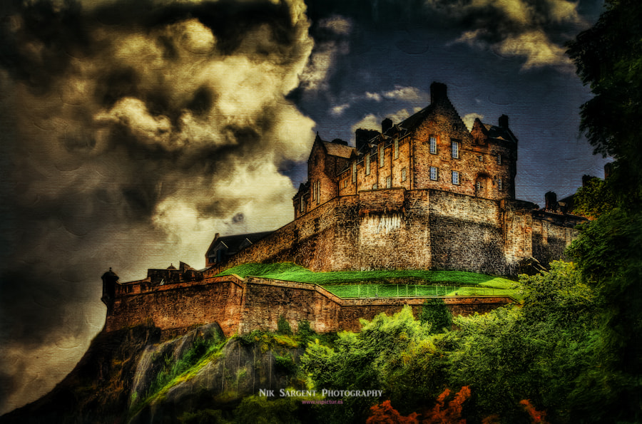 Photograph Edinburgh Castle with a hint of Oils by Nik Sargent on 500px