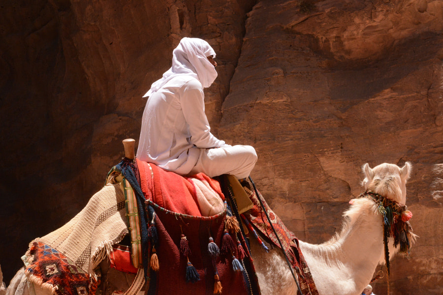 Man in White on Camel by Alexandria Moran on 500px.com