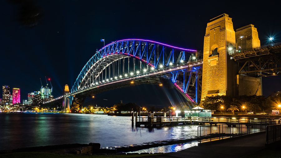 Vivid Sydney Kirribili View by Travis Chau on 500px.com