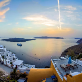 fira sunset by chris mcclanahan
