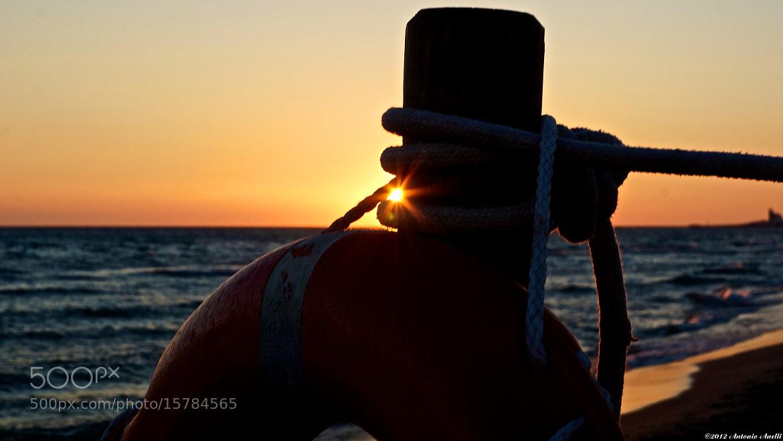 Photograph Sunset through the lifeline. by Antonio Anelli on 500px