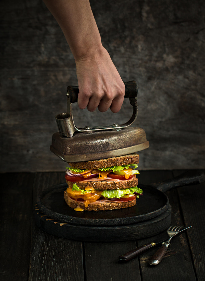 Grilled Cheese , Ham And Tomato Sandwich by Angelika Sorkina on 500px.com