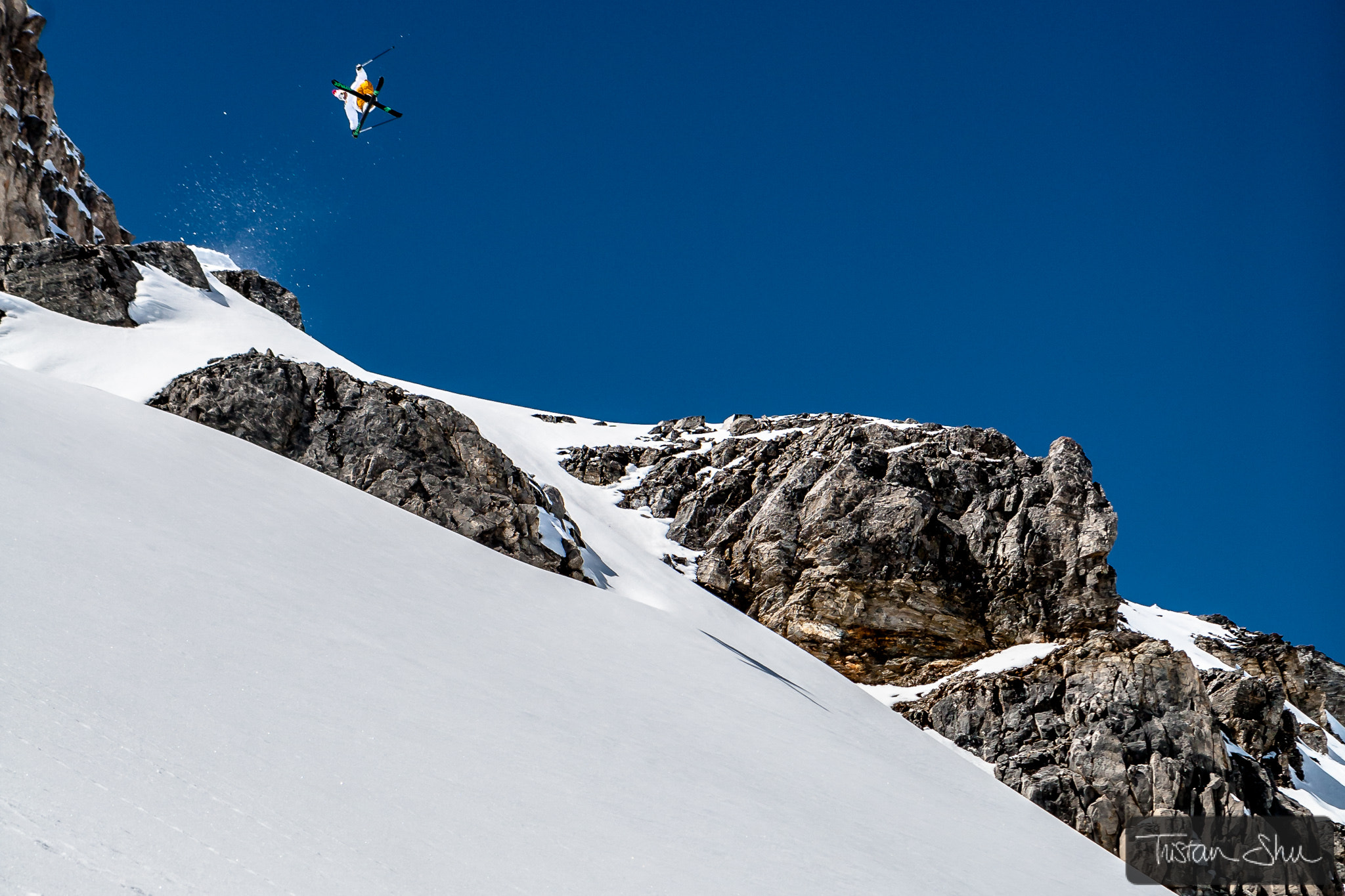 Photograph Candide Thovex kicker Col des V by Tristan Shu on 500px