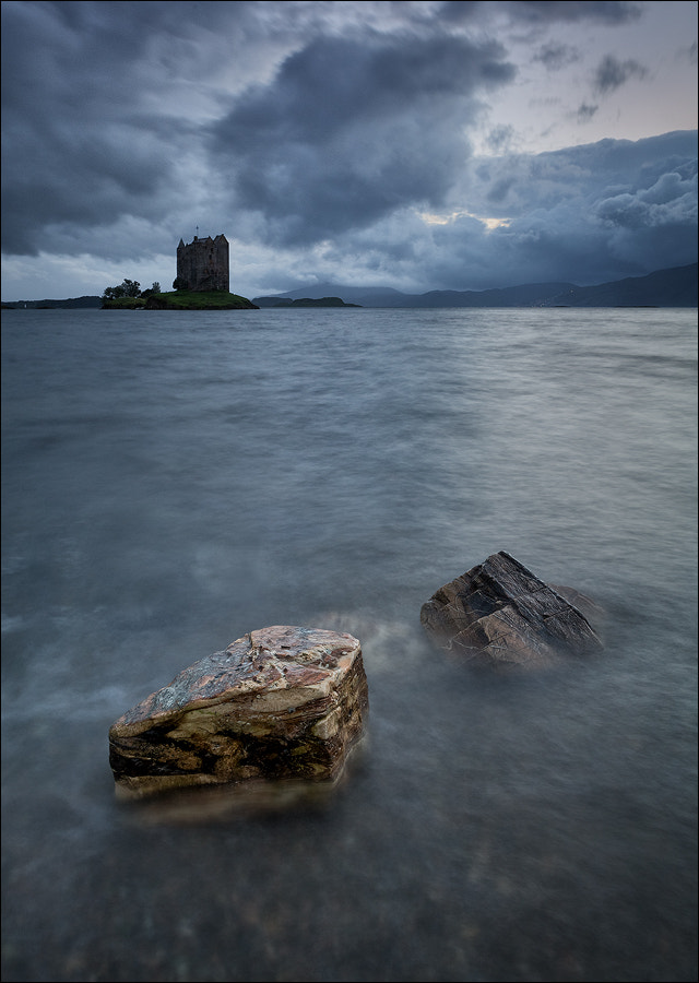 Photograph [ ... storm above castle stalker ] by D-P  Photography on 500px