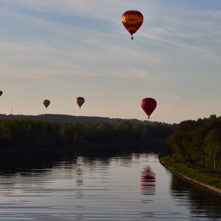 Balloons Above The River
