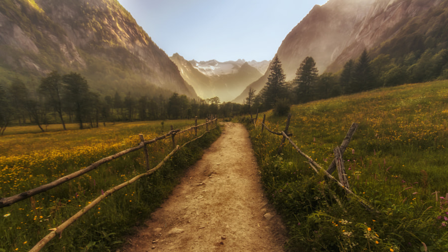 The path into the valley by Francesco Alamia on 500px.com