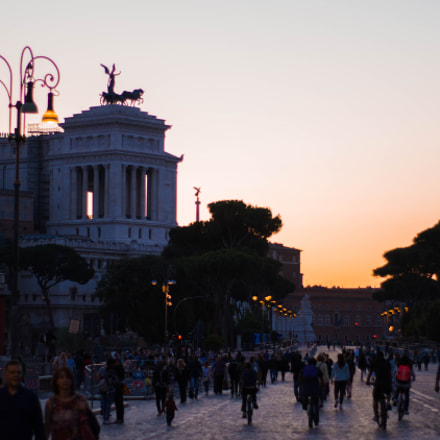 Sunset in Rome., Sony ILCE-5100, Sony DT 50mm F1.8 SAM (SAL50F18)