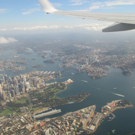 Sydney From a Plane, Canon IXUS 135