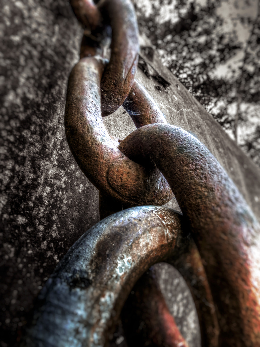 Photograph Rusted Chains Securing Water Tank by Xavier Wiechers on 500px
