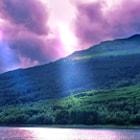 mountain overlooking Loch Long with cloud break