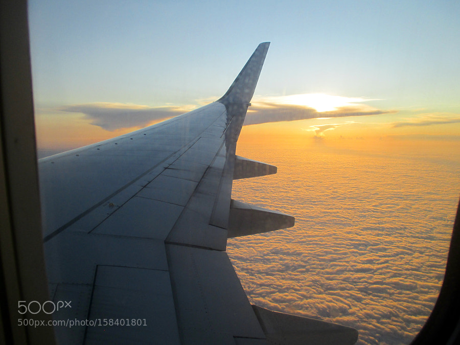 Sunset from a Plane, Canon IXUS 135