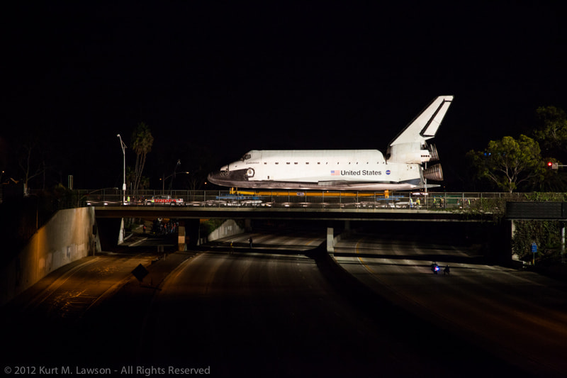 Photograph Shuttle over an empty 405 by Kurt Lawson on 500px