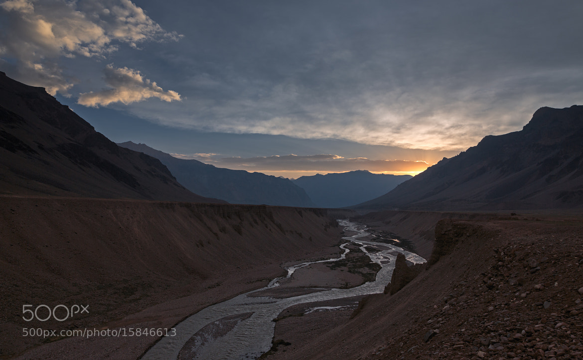 Photograph Sunrise at Sarchu by Tsarp Chu river by S A  I on 500px