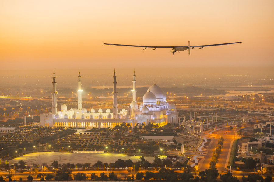 Above the Grand Mosque in Abu Dhabi by SOLAR IMPULSE on 500px.com