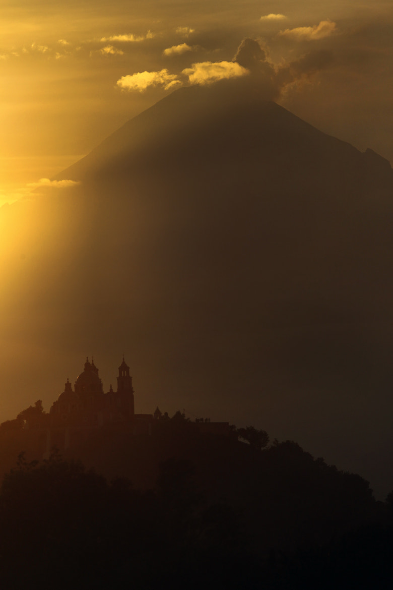 Photograph Church and volcano at sunset by Cristobal Garciaferro Rubio on 500px