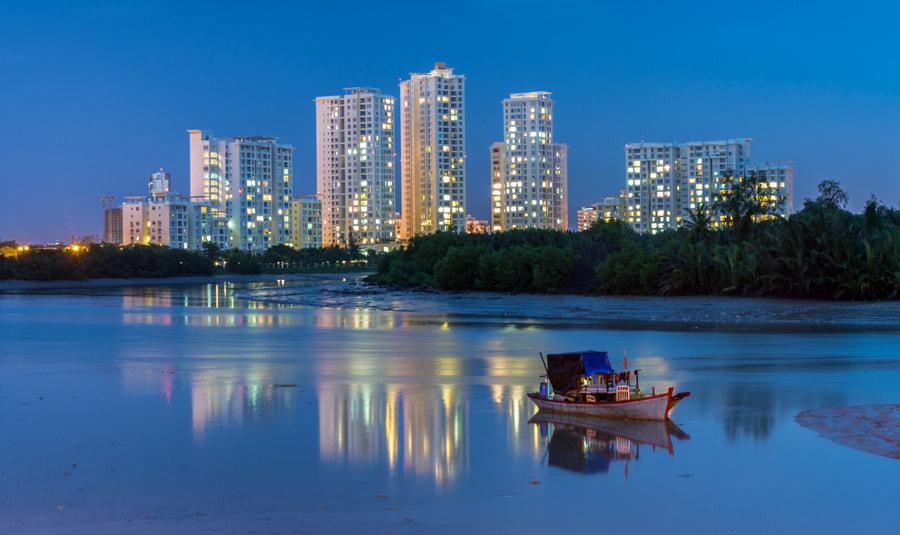 Riverside apartments, Saigon, Vietnam