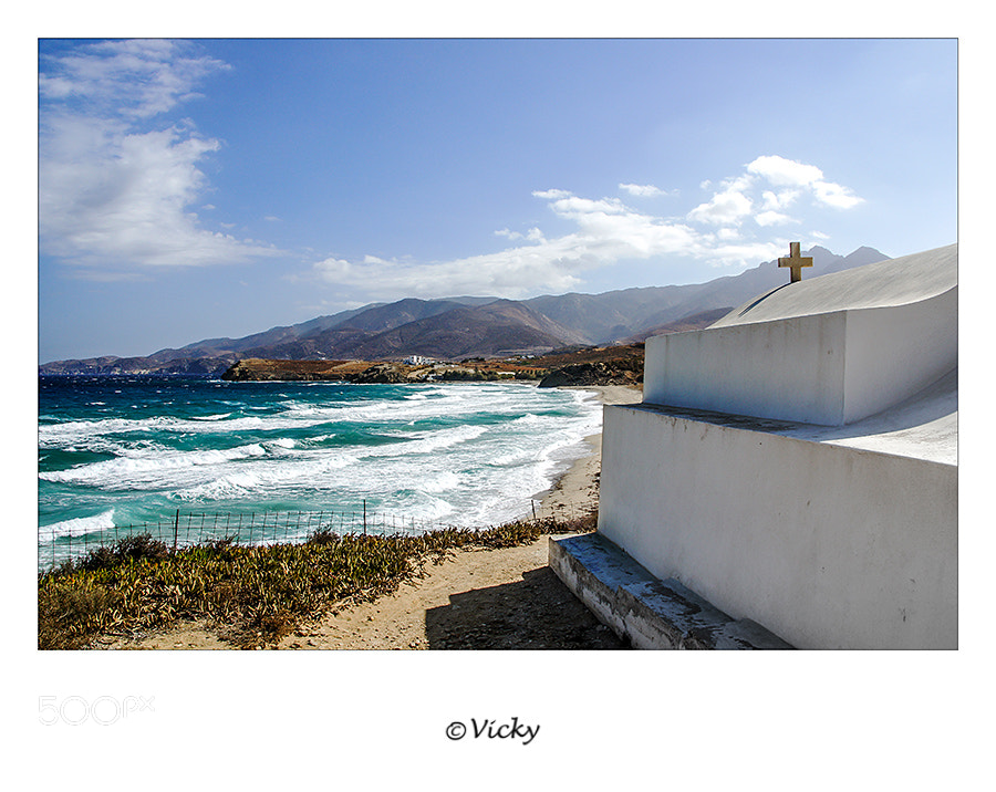 Photograph chapel on the beach, Naxos by Vicky Dens on 500px