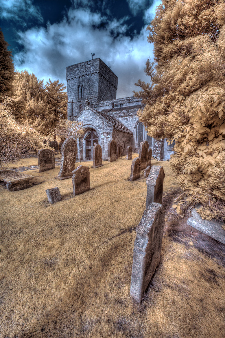 Photograph St. Andrews Church Super Colour IR by Phil Whittaker on 500px