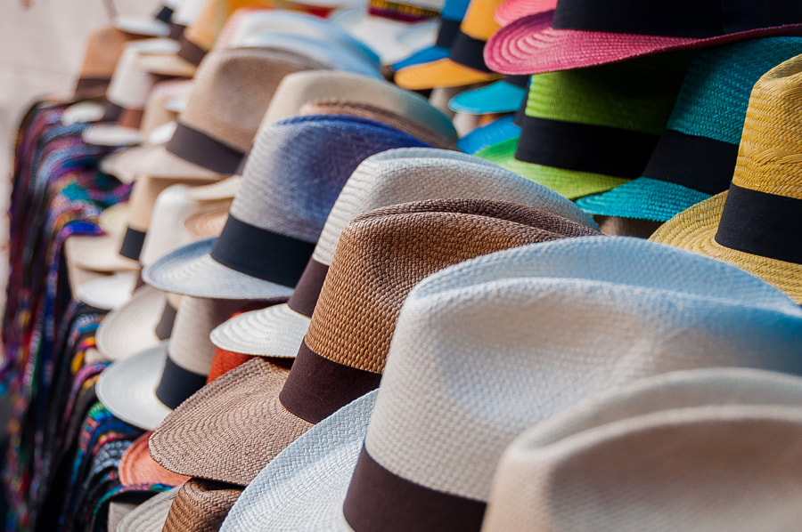 Panama Hats are made in Ecuador. A country full of colors, like this photo. by Allan  Estrada on 500px.com