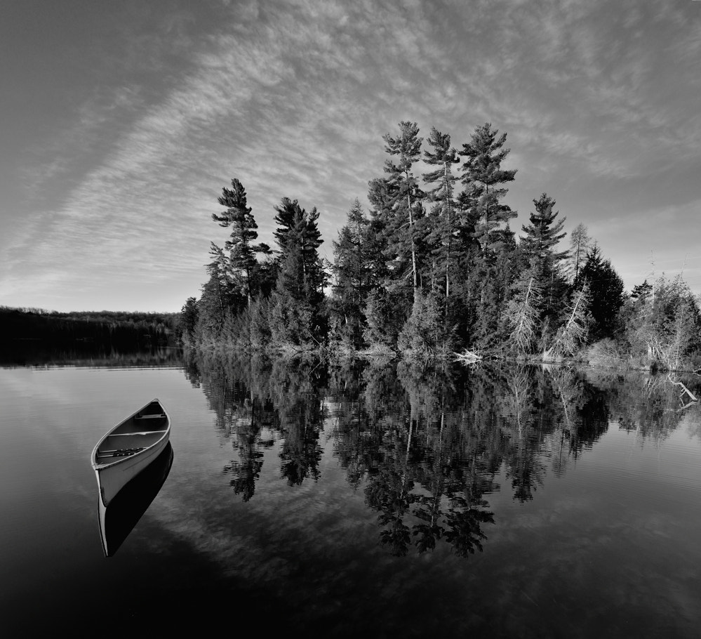 Photograph Canoe & Pines I by Peter Bowers on 500px
