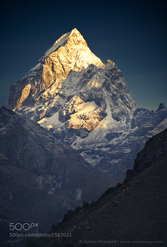 Photograph Himalayan Gold (Pharilapche 6,073 m) by Anton Jankovoy on 500px