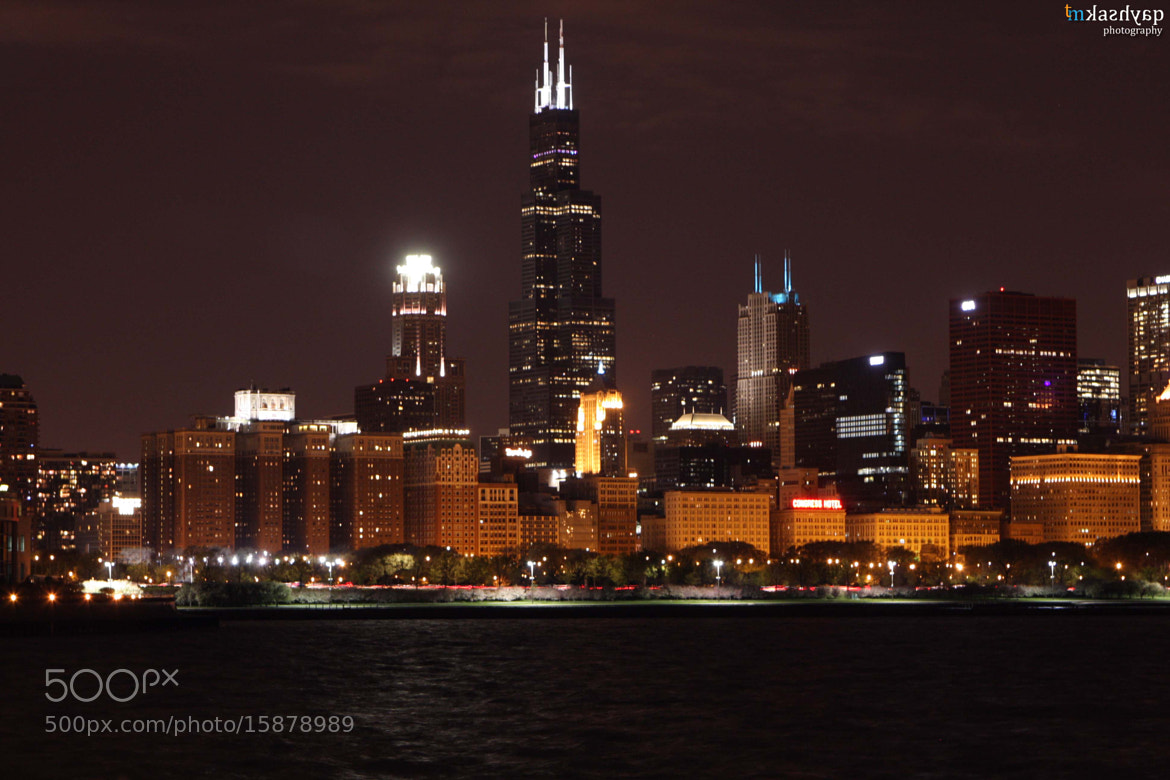 Photograph Chicago Skyline at Night Time by Mayank Kashyap on 500px