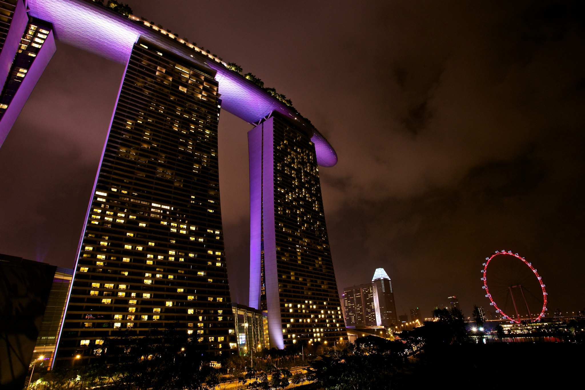 Photograph Marina Bay Sands & Singapore Flyer by Sean Cheng on 500px