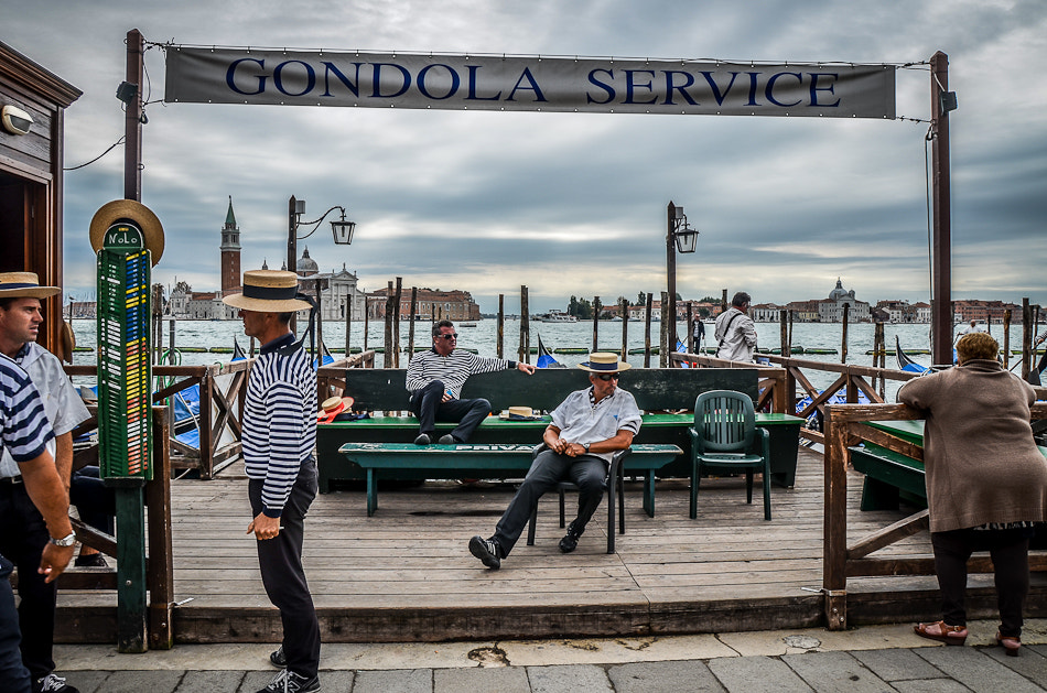 Photograph Gondoliers at rest Venice by Sam Smallwoods on 500px