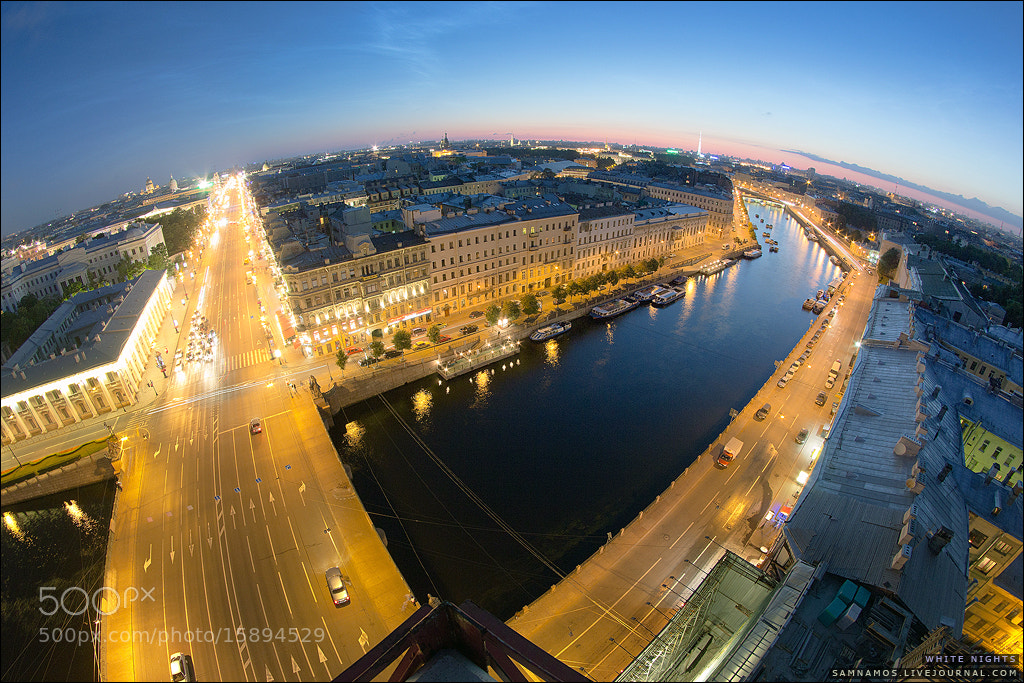 Photograph View from a crane towering over Nevsky Prospect by Sam Namos on 500px
