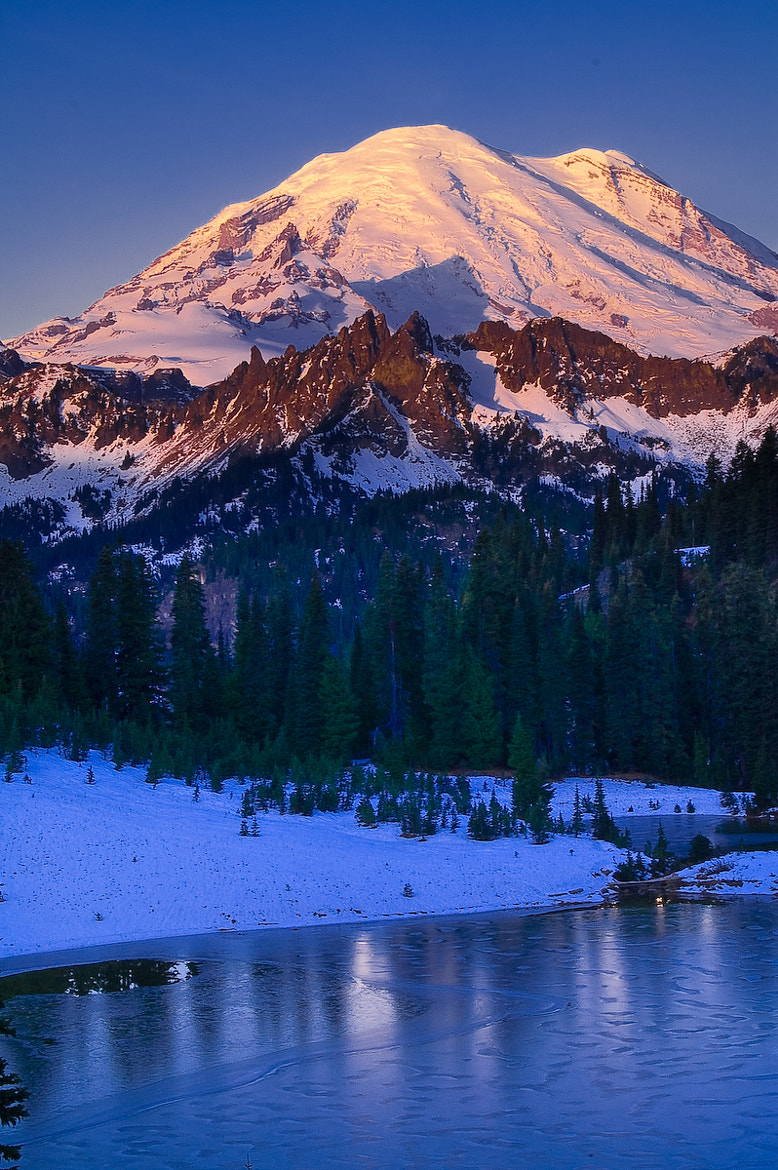 Photograph Morning Light on Mount Rainier by JD Hascup on 500px