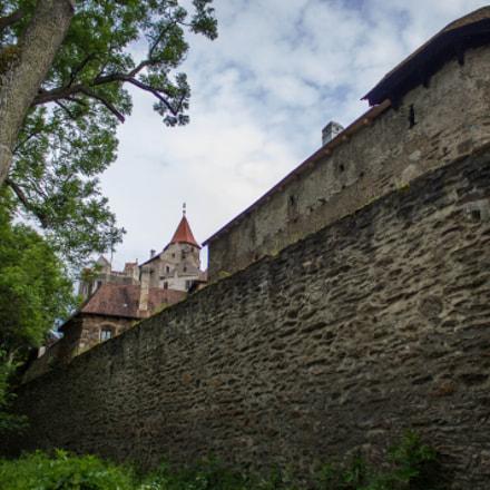 Pernštejn gothic castle