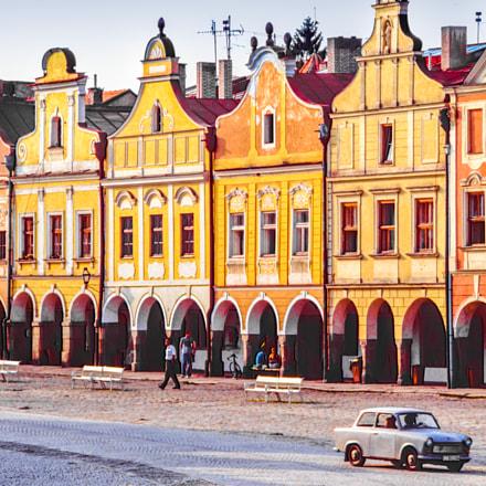 Trabant in Telč (Bohemia - Czech Republic)