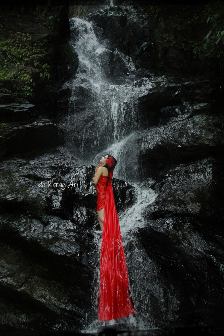 Photograph girl waterfall by de kieray on 500px