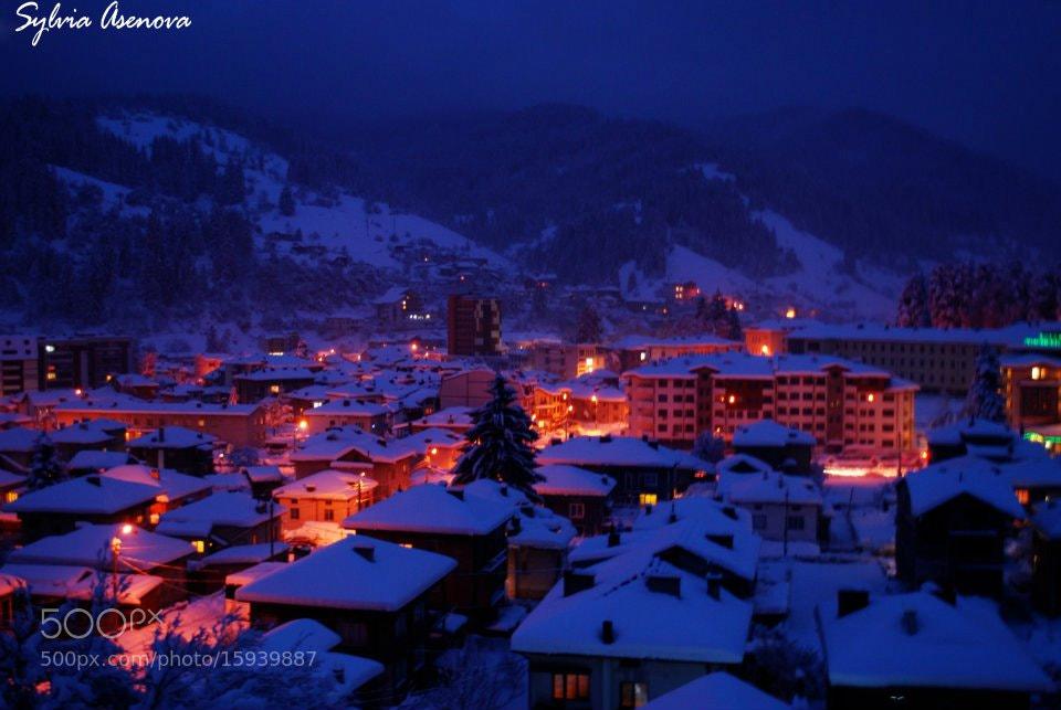 Photograph winter night by Sylvia Asenova on 500px