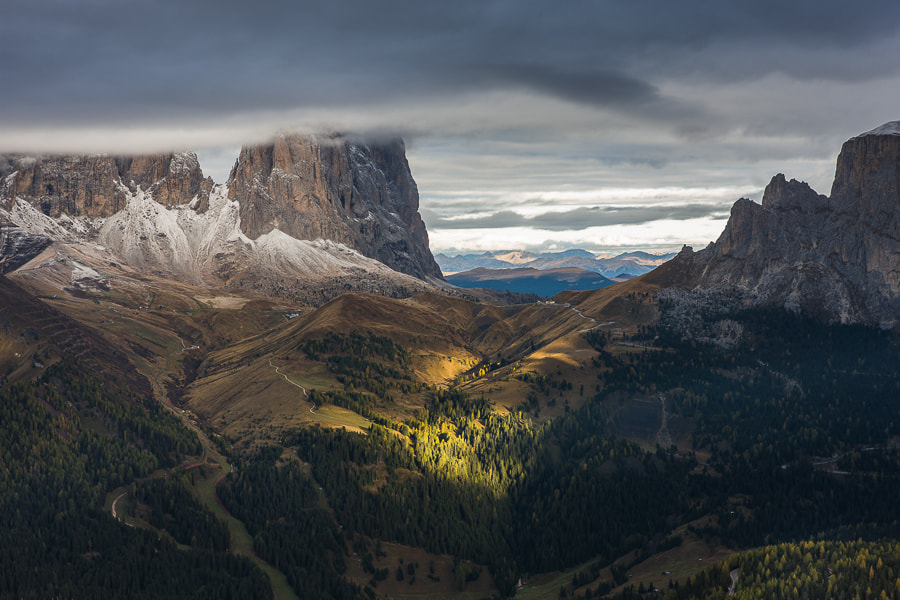 """<a href=""""http://www.hanskrusephotography.com/Workshops/Dolomites-October-7-11-2013/24503434_Pqw9qb#!i=2150910970&k=rZVWpxb&lb=1&s=A"""">See a larger version here</a>  This photo was taken during a photo workshop in the Dolomites October 2012."""
