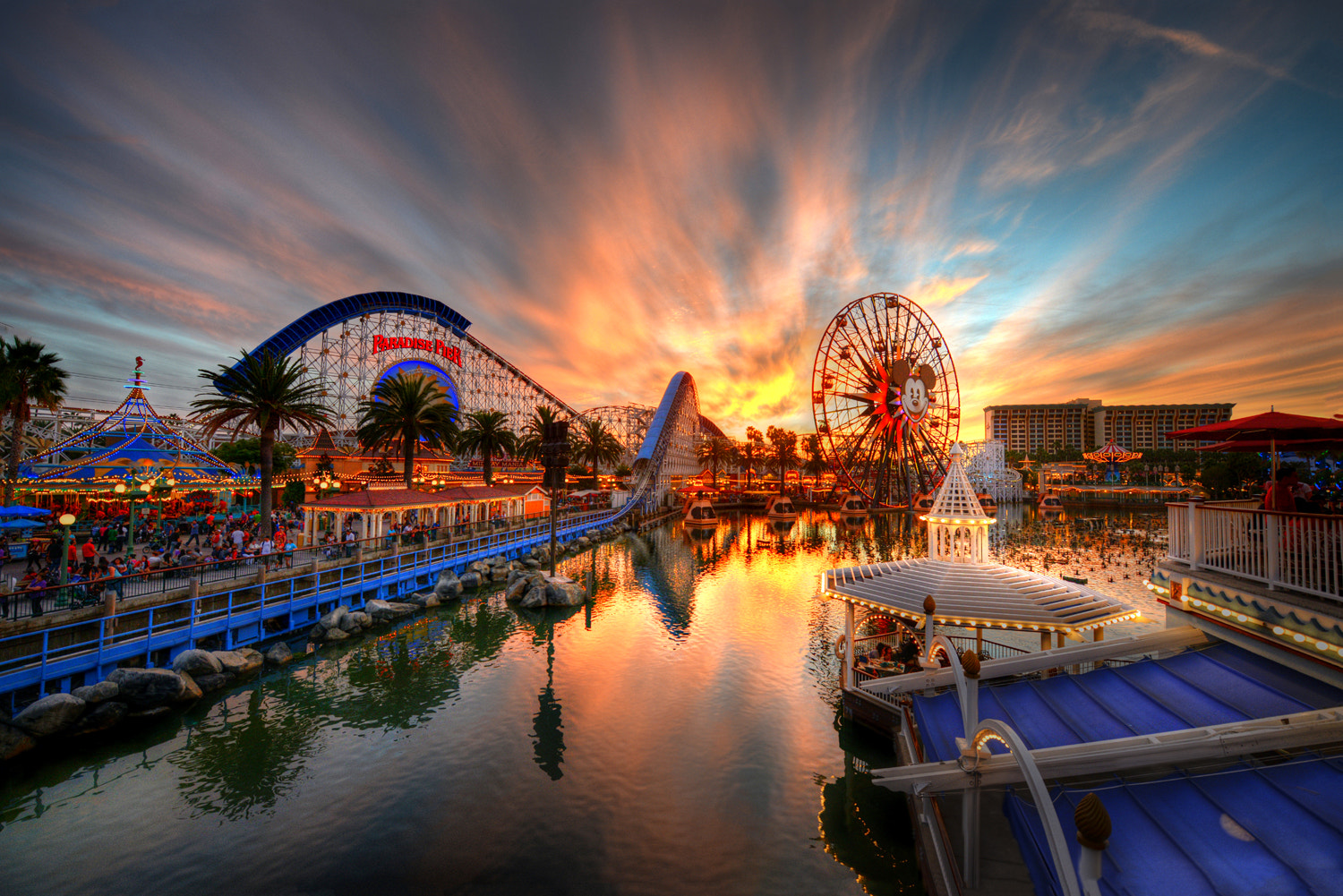 Photograph Paradise Pier Inferno by William McIntosh on 500px