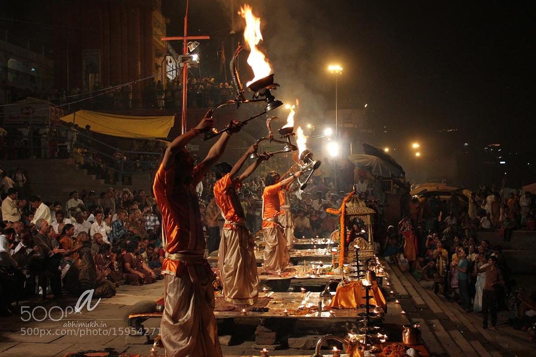 Photograph Evening Ganga Aarti by Abhilash Mukherjee on 500px