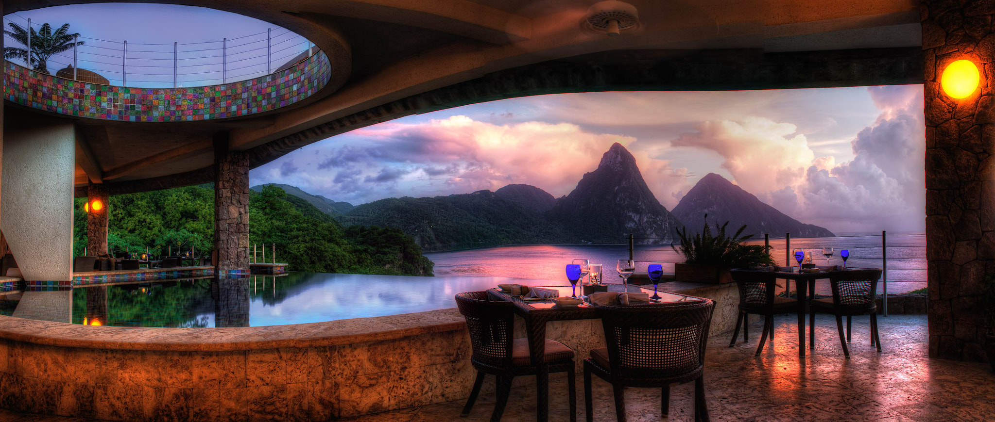 Photograph Sunset at Jade Mountain St. Lucia by RC Concepcion on 500px