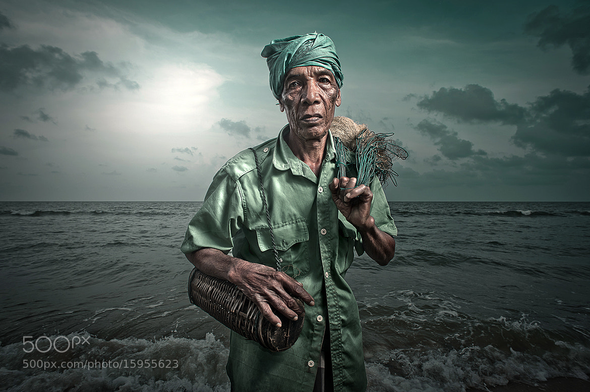 Photograph portrait of a fisherman by abe less on 500px