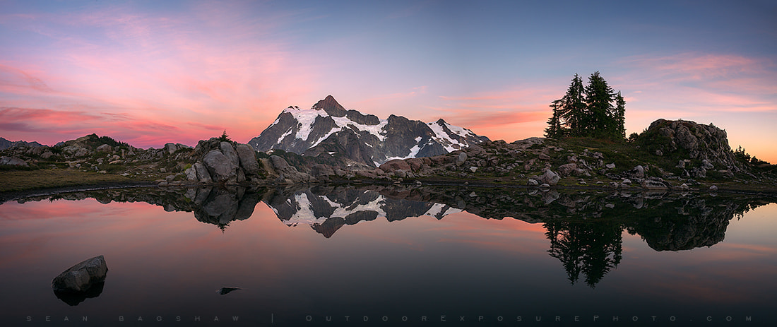 Photograph Mt. Shuksan Sunset Panorama by Sean Bagshaw on 500px