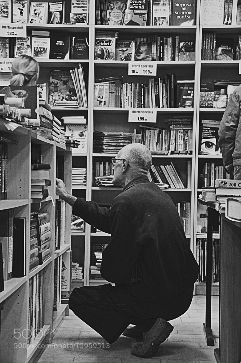 Photograph Old man and the books by Zanfirescu Grigoras Cezar on 500px