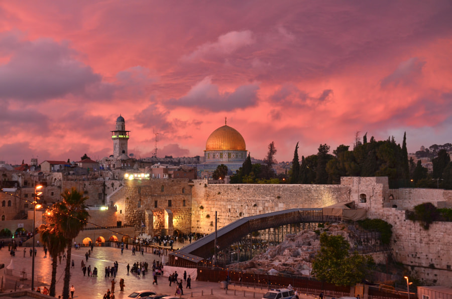 Old City Jerusalem Sunset by Mark Millan on 500px.com