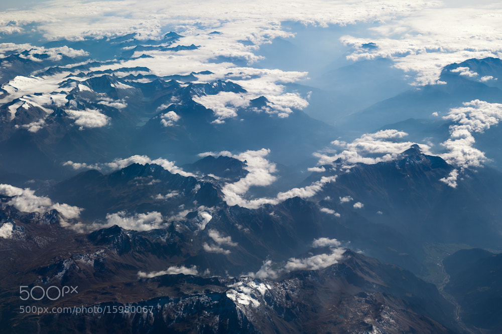 Photograph Dolomites from the Air by Matthew Hellewell on 500px